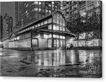 72nd Street Subway Station Bw Canvas Print