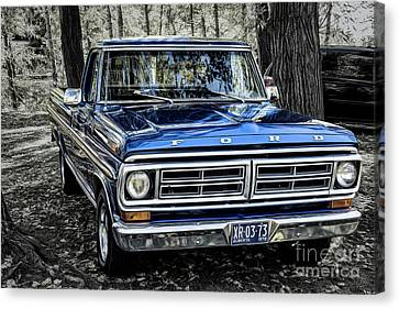 Canvas Print featuring the photograph 73 Ford Pickup by Brad Allen Fine Art