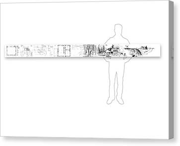 7.35.usa-9-horizontal-with-figure Canvas Print by Charlie Szoradi