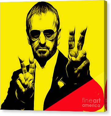 Ringo Starr Collection Canvas Print by Marvin Blaine