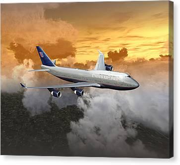 747-400 20x16 04 Canvas Print