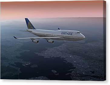 747twilight Canvas Print