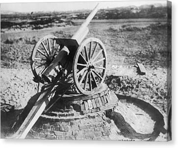 75 Mm Anti-aircraft Gun Canvas Print by Underwood Archives