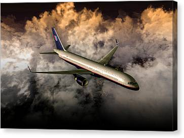 Canvas Print featuring the digital art 757 Ual 05 by Mike Ray