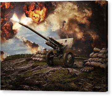 76 Mm Divisional Gun Wwii Artillery Canvas Print by Anton Egorov
