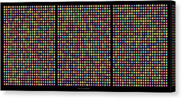 768 Digits Of Pi Up To Feynman Point, E And Phi Canvas Print by Martin Krzywinski