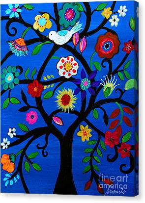 Canvas Print featuring the painting Tree Of Life by Pristine Cartera Turkus