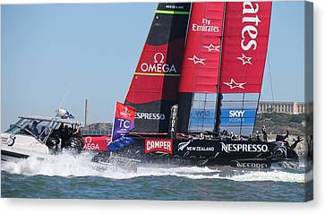 America's Cup 34 Canvas Print by Steven Lapkin