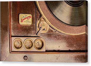 Canvas Print featuring the photograph 78 Rpm And Accessories by Gary Slawsky
