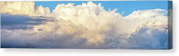 Canvas Print featuring the photograph Clouds by Les Cunliffe