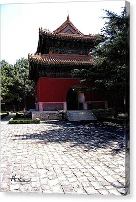 Canvas Print featuring the photograph Beijing by Marti Green
