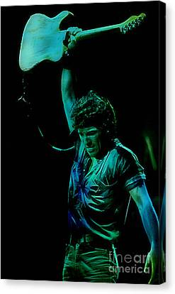 Bruce Springsteen Canvas Print - Bruce Springsteen by Marvin Blaine