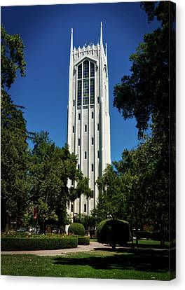 Burns Tower - University Of The Pacific Canvas Print by Mountain Dreams