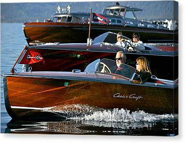 Classic Wooden Runabouts Canvas Print by Steven Lapkin