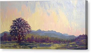 Canvas Print featuring the painting Earth Light Series by Len Sodenkamp