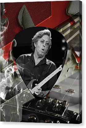 Eric Clapton Art Canvas Print by Marvin Blaine