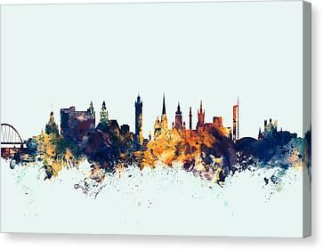 United Kingdom Canvas Print - Glasgow Scotland Skyline by Michael Tompsett