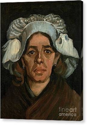 Head Of A Woman Canvas Print by Vincent Van Gogh