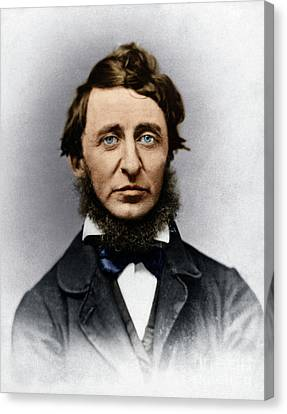 Canvas Print featuring the photograph Henry David Thoreau by Granger