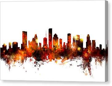 Michael Canvas Print - Houston Texas Skyline by Michael Tompsett