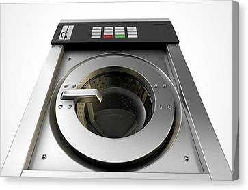 Loader Canvas Print - Industrial Washing Machine by Allan Swart
