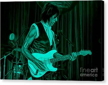 Jeff Beck Collection Canvas Print