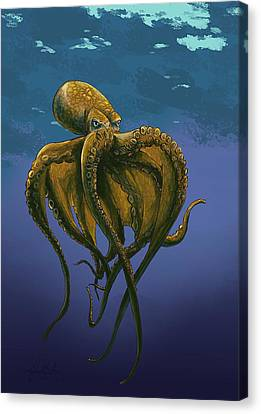 8 Legs Of The Sea Canvas Print