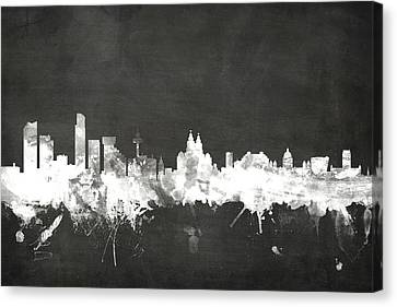 Liverpool England Skyline Canvas Print by Michael Tompsett