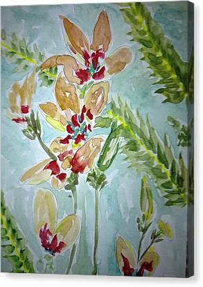 Love Flowers Canvas Print by Baljit Chadha