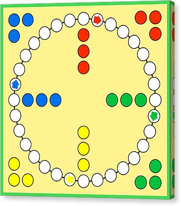 Ludo Board Game Canvas Print