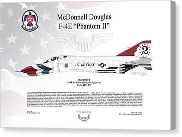 Mcdonnell Douglas F-4e Phantom II Thunderbird Canvas Print