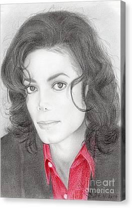 Michael Jackson #two Canvas Print by Eliza Lo