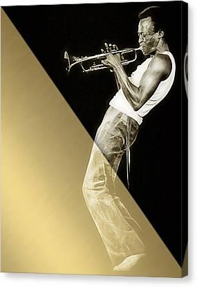 Miles Davis Collection Canvas Print by Marvin Blaine