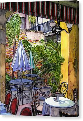 8  Napoleon House Courtyard Canvas Print by John Boles