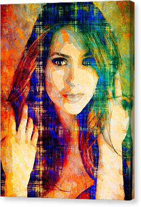 Nina Dobrev Canvas Print by Svelby Art