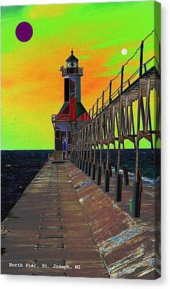 North Pier St Joseph Michigan Canvas Print