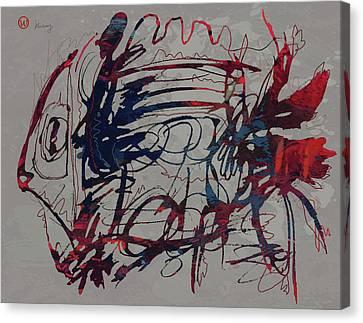 Popular Canvas Print - Pop Art - Fish Poster by Kim Wang