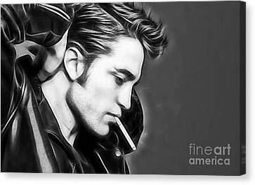 Robert Pattinson Collection Canvas Print by Marvin Blaine