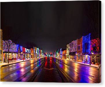 Rochester Christmas Light Display Canvas Print by Twenty Two North Photography