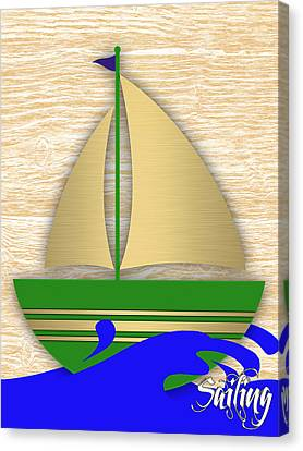 Sail Canvas Print - Sailing Collection by Marvin Blaine