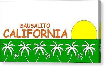 Sausalito California Canvas Print
