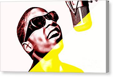 Stevie Wonder Collection Canvas Print by Marvin Blaine
