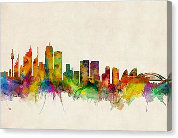 Sydney Australia Skyline Canvas Print by Michael Tompsett