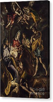 Child Jesus Canvas Print - The Adoration Of The Shepherds by El Greco