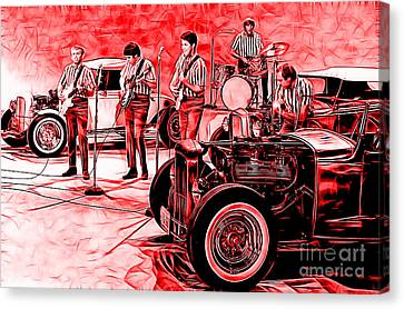 The Beach Boys Collection Canvas Print by Marvin Blaine