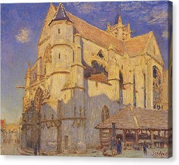 The Church At Moret Canvas Print by MotionAge Designs