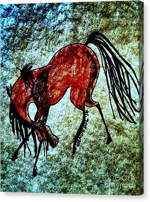 The Dancing Pony Canvas Print by Scott D Van Osdol
