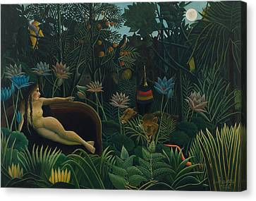 Primitive Nude Canvas Print - The Dream  by Henri Rousseau
