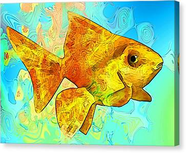 Tropical Fish Canvas Print - Underwater.fish. by Elena Kosvincheva