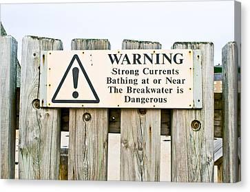 Coastguard Canvas Print - Warning Sign by Tom Gowanlock